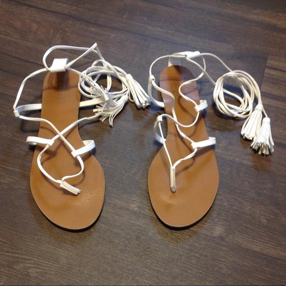 99e8344c4fd White Lace Up Gladiator Sandals. M_5b5e5011f41452e61e6baf40